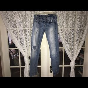 American Eagle Fade & Ripped Skinny Jeans (0)
